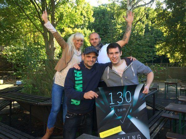 Das alte Team des 130bpm. Im Uhrzeigersinn: Nadine Mundus, Sebastian Pfromm, Frederic Nau, Lars Meyer