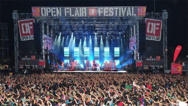 Auftritt während des Open Flair Festival im vergangen Jahr