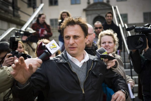 "Filmszene: aus ""Verblendung"" mitMiakel Nyqvist als Mikael Blomkvist"