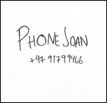 Phone Joan +47 91799466 (Nuclear Blast)