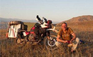 Thomas Houf mit seinem Motorrad
