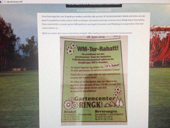 WM-Rabattaktion räumt Gartencenter leer! - Aktion geht trotzdem weiter!