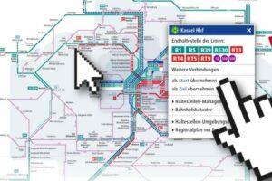 Interaktiv wird's beim Netzplan des NVV
