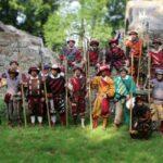Schützengesellschaft 1560 Rhoden e.V. feiert im Rhoder Schlossgarten 50-jähriges Landsknechts-Jubiläum