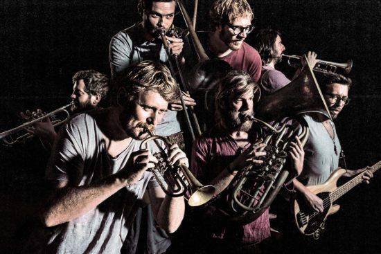 Eine der Gastbands beim Kultursommer Mittelhessen: La Brass Banda