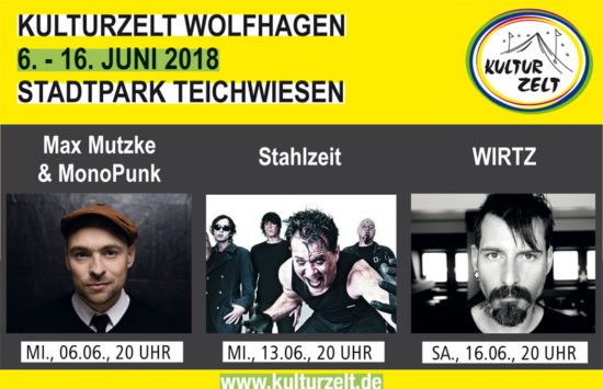Das 24. Wolfhager Kulturzelt: Kultur genießen!