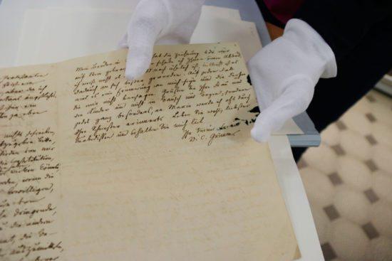 Unterschrift von Wilhelm Grimm