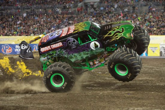 Monstertrucks auf der Monster Jam in Frankfurt