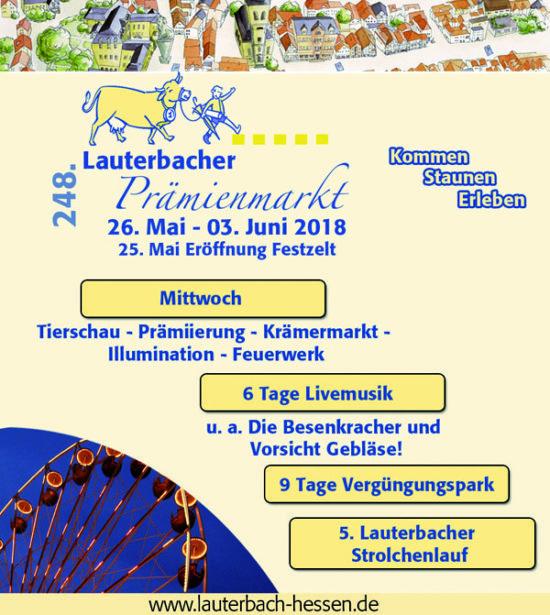Vorsicht Stimmung! Lauterbacher Prämienmarkt 25.05.-03.06.2018
