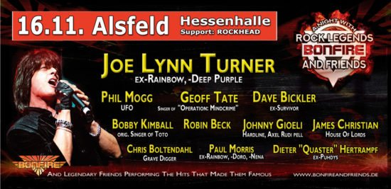 Bonfire – A Night With Rock Legends in Paderborn und Alsfeld abgesagt!