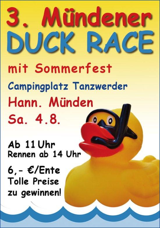Quietsche-Entchen schwimmen für den guten Zweck: 3. Hann. Mündener Duck Race