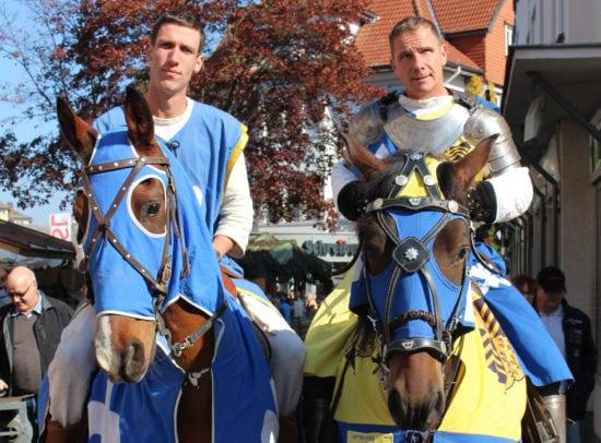 Ritter zuPferd Mittelaltermarkt Korbach