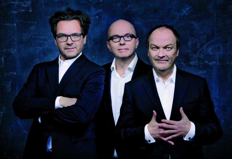 Die Synchronsprecher der drei Fragezeichen: Andreas Fröhlich (Bob Andrews), Oliver Rohrbeck (Justus Jonas), Jens Wawrczeck (Peter Shaw)