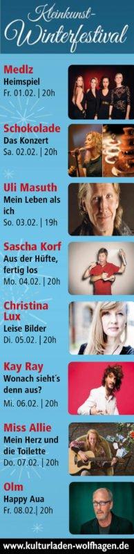 Winterprogramm im Kulturladen Wolfhagen - Kultur en masse
