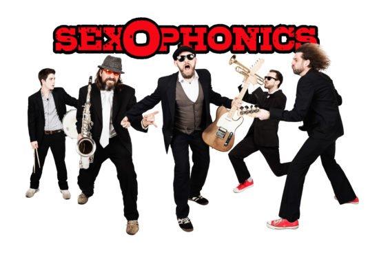 So wild präsentieren sich die Sexophonics mit ihrer Musik.