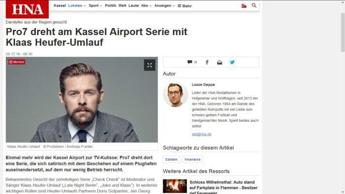 Check Check in Kassel: Ein Drehort ist der Flughafen in Kassel Calden.