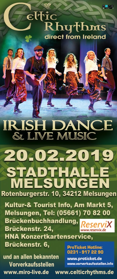 Celtic Rythms in Melsungen -  Live und authentisch