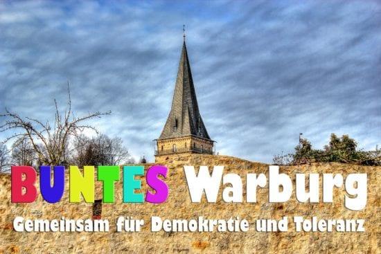 Gemeinsam für Demokratie und Toleranz - Initiative BUNTES Warburg lädt zum Kulturfest ein: am Wochenende 06./07. Juli 2019 in Warburg