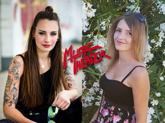 Alena Brunst und Miriam Herche und das alte MT Logo