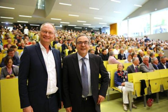ARD-Meteorologe Sven Plöger und Uni-Präsident Prof. Dr. Reiner Finkeldey