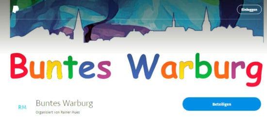 per Paypal spenden für Buntes Warburg