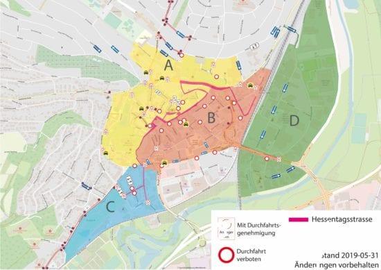 Etliche neue Einbahnstraßen während des Hessentags - Ab heute neue Verkehrsführung in Bad Hersfeld!