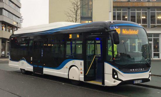 NVV zieht positive Bilanz nach E-Bus Einsatz