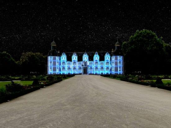 Atmosphärische Schlossleuchten im Neuhäuser Schlosspark!