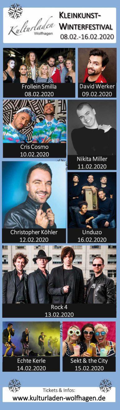 Das 26. Kulturzelt Wolfhagen 2020 – Diese Weltstars erwarten Dich!