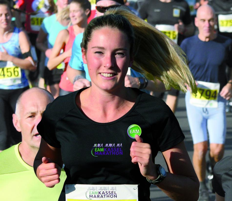 Luisa Trieschmann ist das neue Covergirl des EAM Kassel Marathon (c) Michael Bald