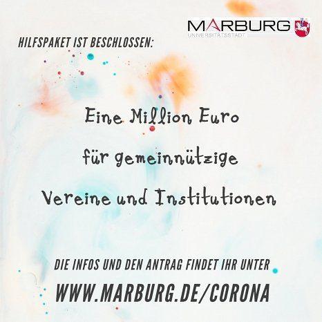 Marburg stellt Millionenpaket in der Corona-Krise für Geförderte