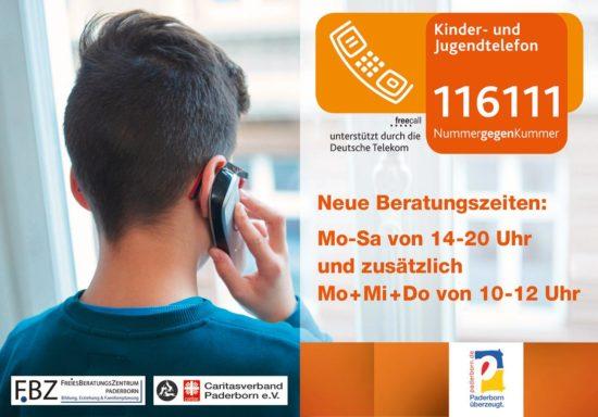 Paderborn: Nummer gegen Kummer für Kinder und Jugendliche