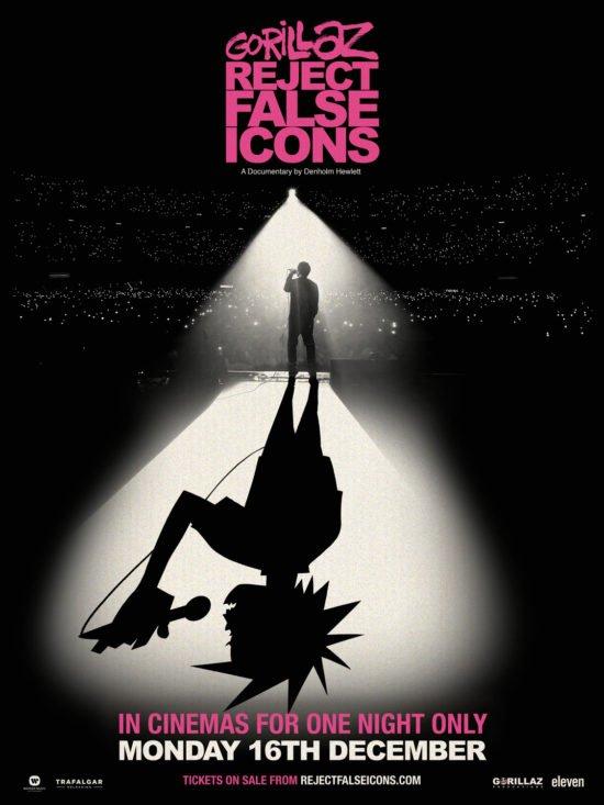 Auf Platz 10 unserer TOP 10 der besten Musik-Dokumentationen: Gorillaz - Reject False Icons