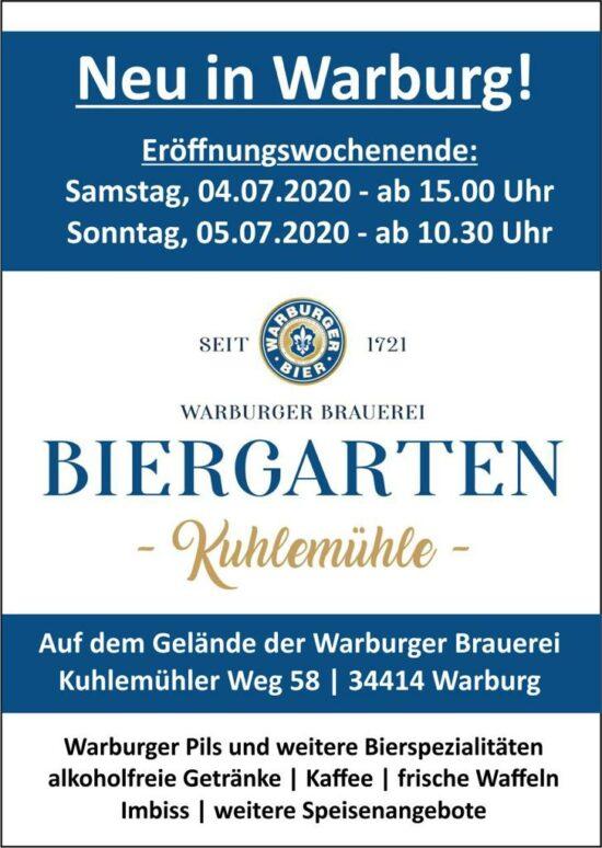 Warburger Brauerei Biergarten Kuhlemühle: Bier und mehr!