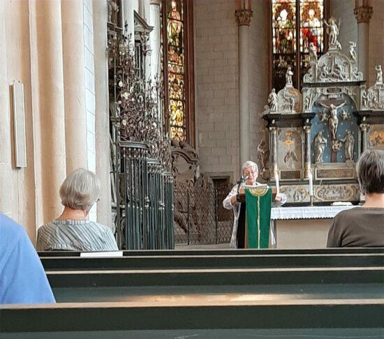 Kirchenvorsteherin Ulrike Paulus-Jung begrüßte die Zuhörer zur Stunde der Orgel | (c) Julia Leibundgut für Wildwechsel