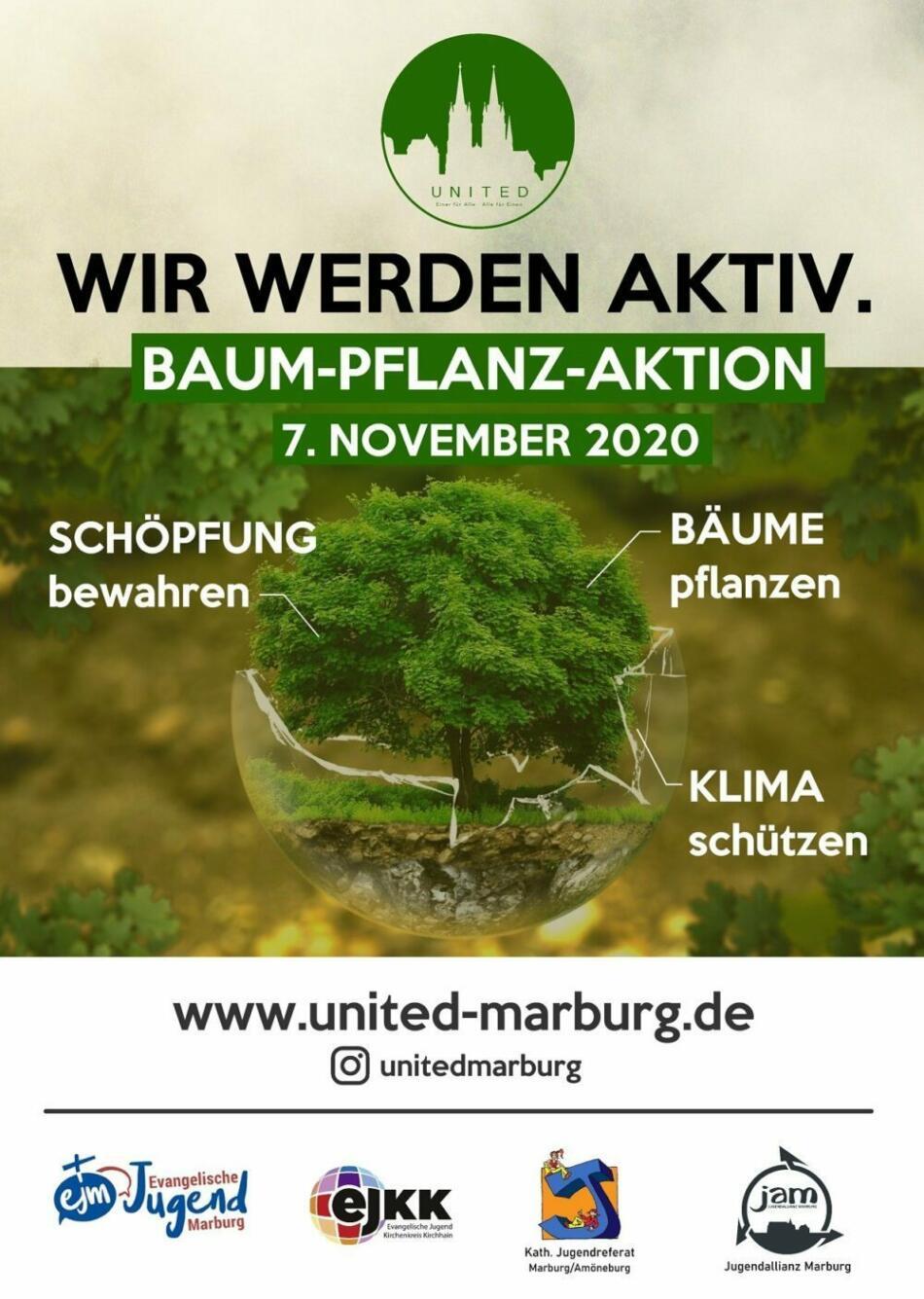 Baum-Pflanz-Aktion von United Baumpflanzaktion A3 Flyer