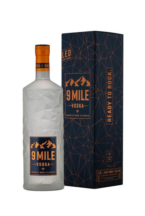 Verlosung: 9 MILE Vodka ab sofort in der 3-Liter Magnum-Flasche!