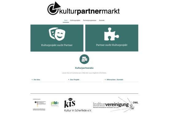 Kulturpartnermarkt.de - Neuer Marktplatz für Kulturförderungen