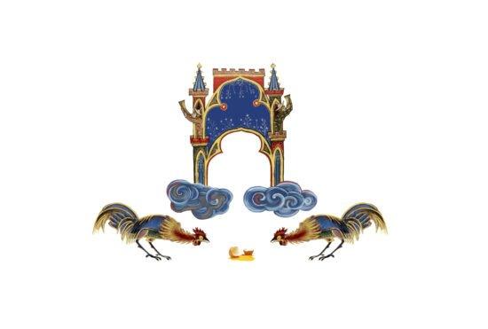 Märchen-Podcast aus der Grimmwelt: Der Eierhändler der reich werden wollte   (c) GRIMMWELT Kassel_Illu_Aliaa Abou Khaddour