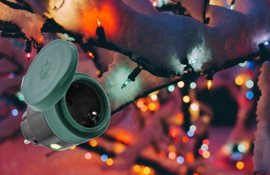 Gewinnspiel: Mit dieser SmartHome Outdoor-Steckdose klappts auch mit der Weihnachtsbeleuchtung!