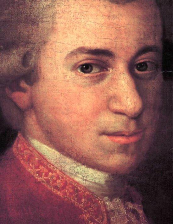 W. A. Mozart, Detail aus einem Gemälde von Johann Nepomuk della Croce (ca. 1781) | Mozartwoche in Würzburg: 100 Jahre Mozart I (c) Johann Nepomuk della Croce