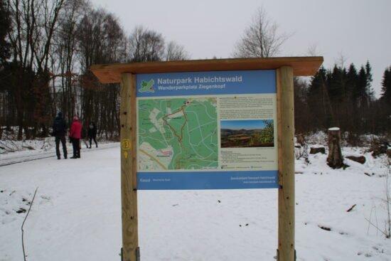 Ausgangspunkt Quiz-Wanderweg im Naturpark Habichtswald