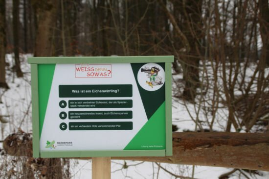 Naturpark Habichtswald Fragetafel