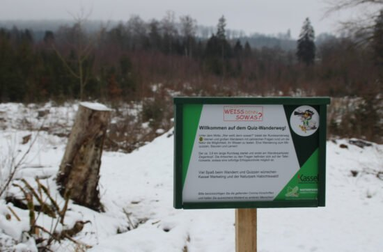Im Naturpark Habichtswald gibt es jetzt einen Quiz-Wanderweg für Jung und Alt. Auf diesem Rundweg könnt ihr Wandern und Rätsel-Spaß verbinden. | (c) Annika Ludolph