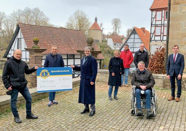 Olaf Menne, Birger Kriwet, Lena Volmert, Ute Schlinker, Olaf Krane, Axel Arend, Andreas Knoblauch-Flach, Bürgermeister Tobias Scherf