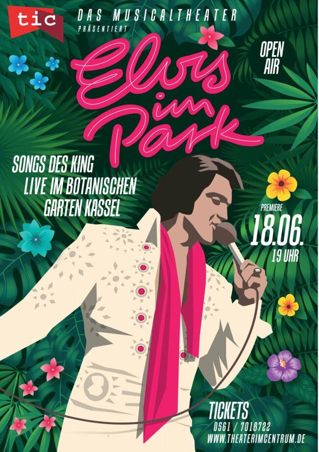 »Elvis im Park«: Unter diesem Motto sollen die größten Hits des US-amerikanischen Sängers im Botanischen Garten in Kassel performt werden. | (c) Yasser Serdani