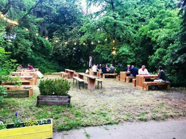 Früher war hier der Fiasko-Biergarten - jetzt der neueröffnete Beckett's Biergarten!