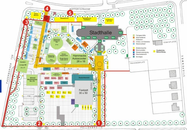 Oktoberwoche 2021 - Vergnügungspark-Plan