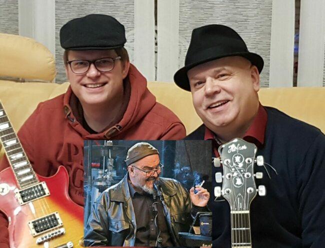 """Zu den """"Dusty Brooms"""" gehören Peter Hohenecker (Lead Vocals, Harp), Lars Gemmeke (Guitar) und Sliding Alex (Guitar, Slide, Bass).   (c) Schlossfestspiele Biedenkopf"""