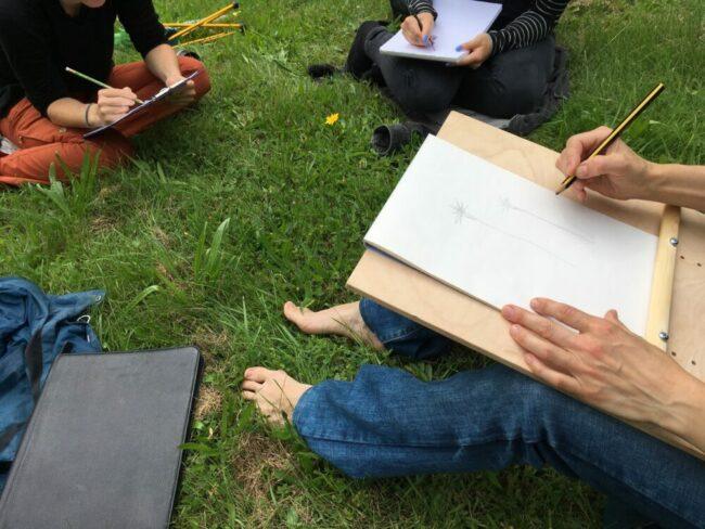Workshops im Kulturzentrum Schlachthof: Die Künstlerin Shpresa Faqi macht den Anfang mit ihrer Veranstaltung »Lebewesen zeichen Lebewesen«.   (c) Shpresa Faqi